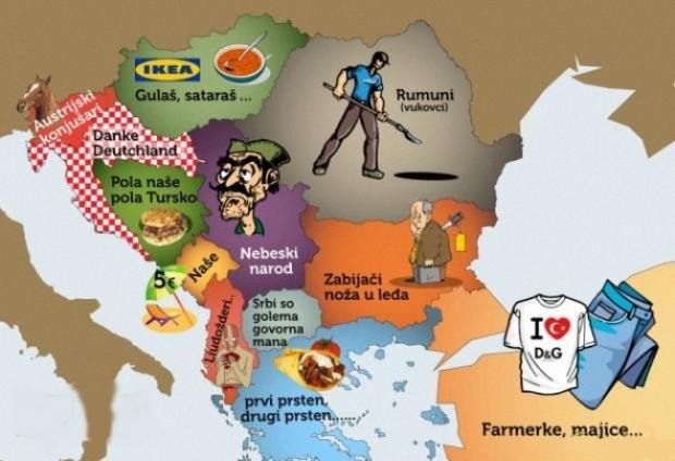 Kako Srbi vide komsije